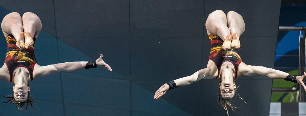 10 лучших кадров киевского чемпионата Европы по прыжкам в воду