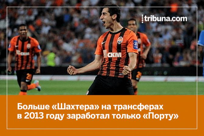 10 клубов Европы, заработавших больше всего на трансферах в 2013 году